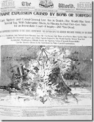 Pullitzerův The World z roku 1898. Podle mnohých jeden z původců Americko-španělské války. Měl to dokázat bulvarizací událostí, která změnila veřejné mínění.