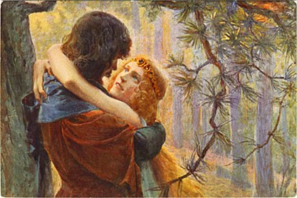 IN PERFORMANCE: Prelude & Act Two from Richard Wagner's TRISTAN UND ISOLDE [19th-Century postcard depicting Tristan and Isolde]