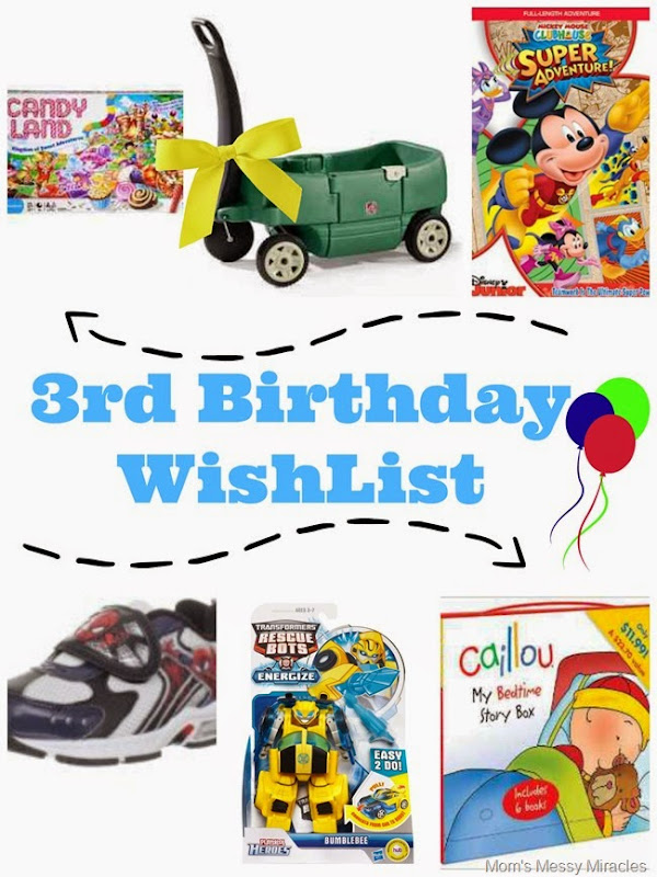 3rd Birthday WishList