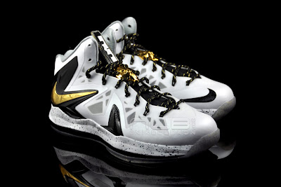lebron10 ps elite white gold 34 web black The Showcase: Nike LeBron X P.S. Elite+ White & Gold