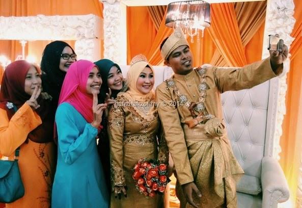 pengantin selfie