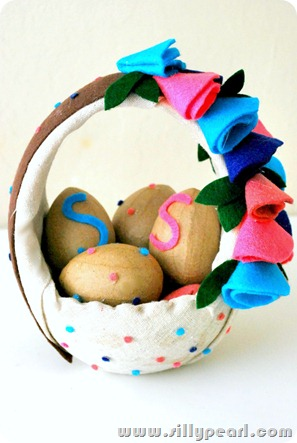 Restyled Ceramic Easter Basket
