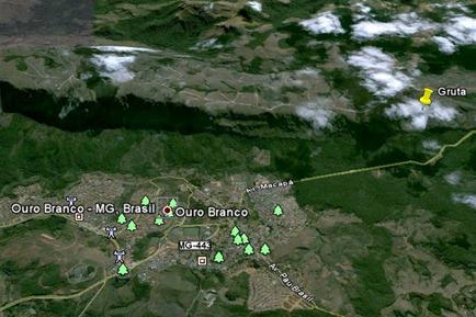 Ouro Branco Serra Gruta Mapa