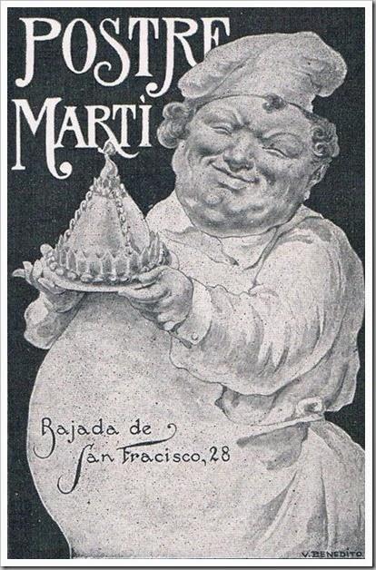 Anuncio Postre Martí, 1928