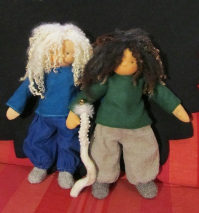 Puppenmädchen Puppenjunge