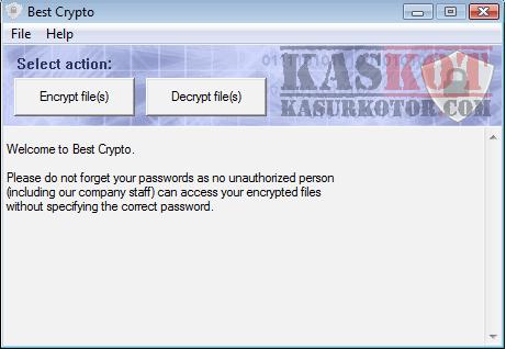 Melindungi File Folder dengan Password - Best Crypto
