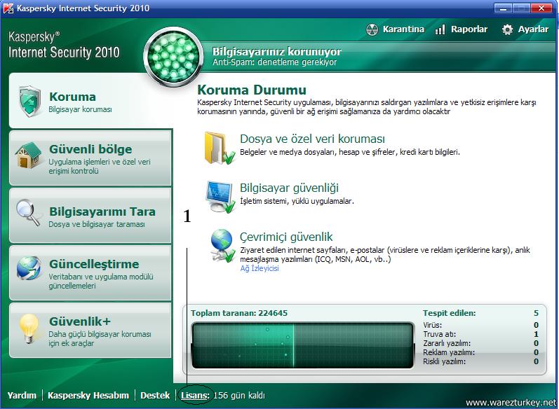 Kaspersky 2010 Key Girme - Resimli Anlatım