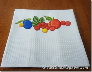 pano louça frutas