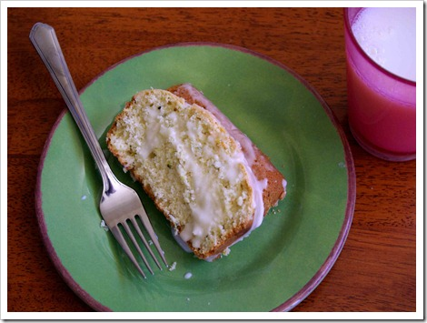Zucchini Lemon Bread with lemon glaze