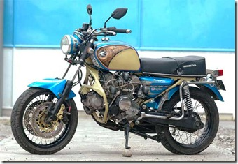 Modification Honda GL 100 machines, use 3 cylinders 456.9 cc