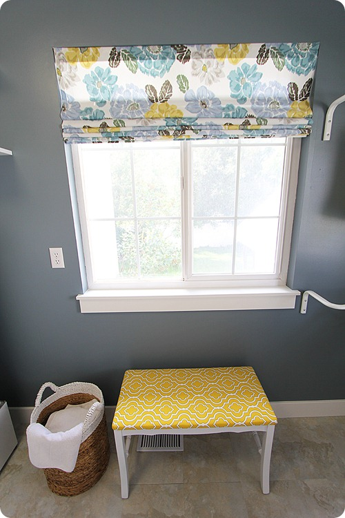roman shades using blinds