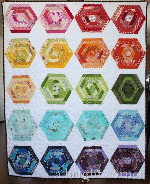 hexing around quilt 1