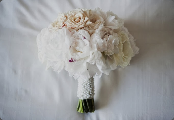 Pearls Romantic Bouquet by Cori Cook CB Brinton Studios