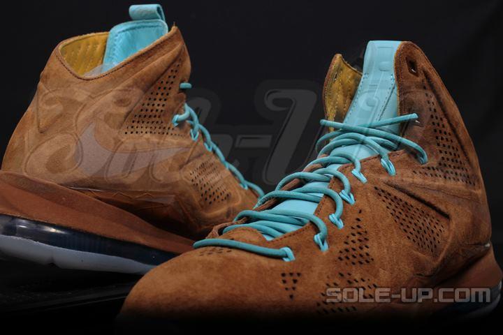 Nike LeBron 10 EXT QS Hazelnut Brown Suede
