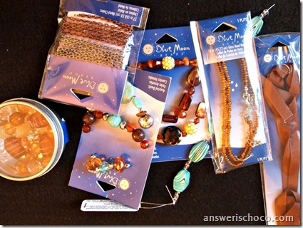 Blue Moon Beads Toffee and Turqoise 1