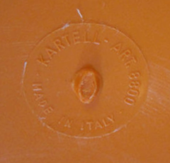 Olaf von Bohr Kartell bed table, imprint