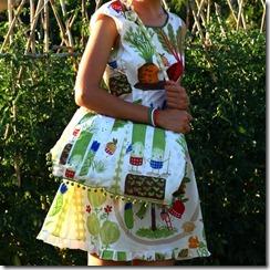 Vestito borsa orto e girasoli-007