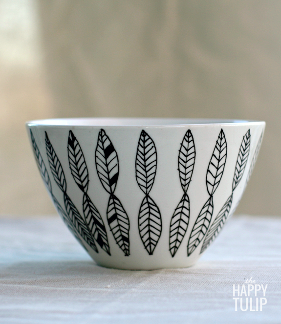 diy stocking stuffer idea #1- personlized bowl