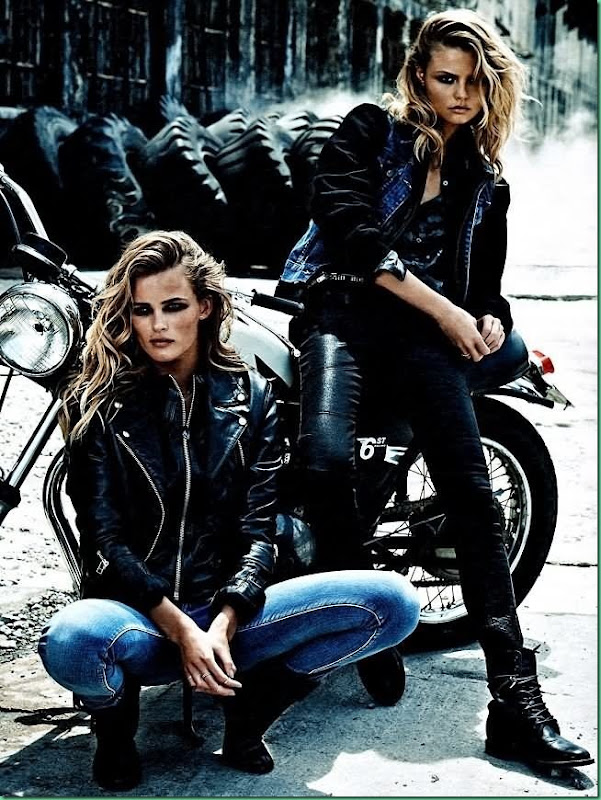 Edita Vilkeviciute & Magdalena Frackowiack for W Magazine