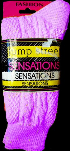 80's pink slouch sock