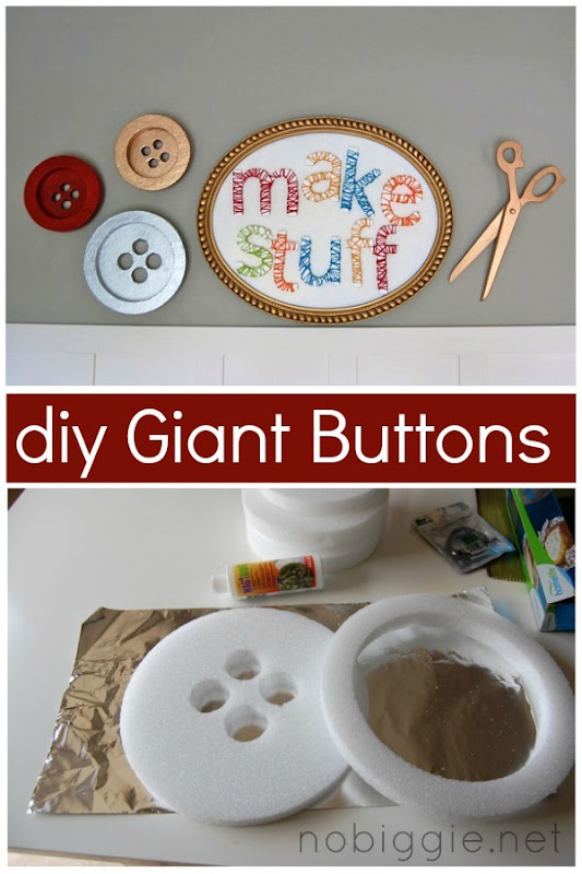 DIY Giant Buttons by No Biggie