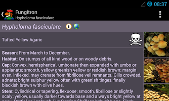 Screenshot of Fungitron - mushroom guide