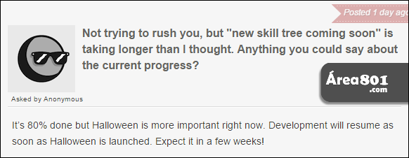 pergunta progresso arvore de hab