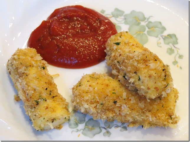 Baked Mozzarella Sticks 3-21-13