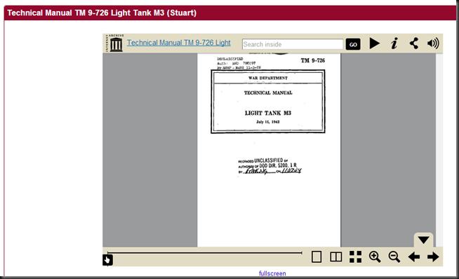 Technical Manual TM 9-726 Light Tank M3  Stuart    War Department   Free Download   Streaming   Internet Archive
