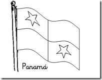 panama bandera para colorear 1