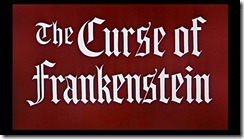The Curse of Frankenstein Title