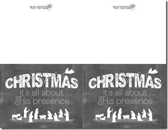 Christmas presence Chalkboard cards for personal use