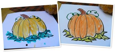 View watercolor pumpkins