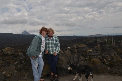 Sue and Mo at the CCC built mountain observatory at the summit of Mackenzie Pass