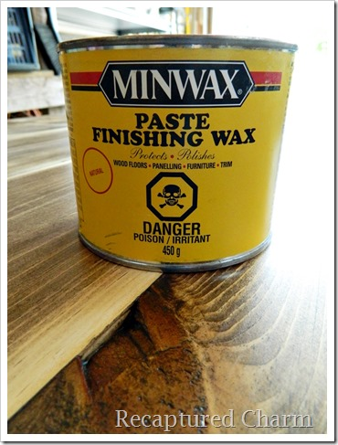 rustic coffee table minwax paste