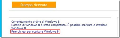 Link Fare clic qui per scaricare Windows 8