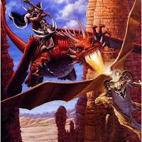 dragones rojo-peleando