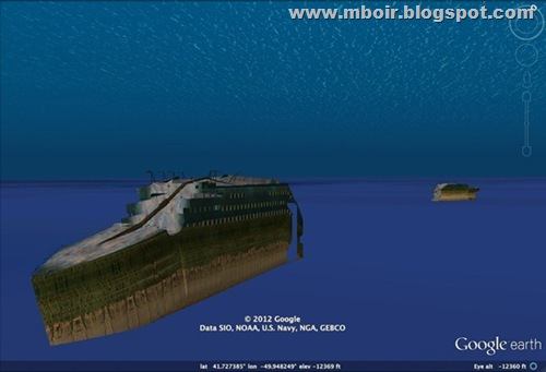 Titanic Tour 3D Google Earth - mboir