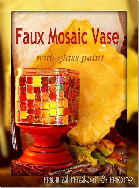 Faux Mosaic Vase