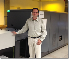 Dirk Borrmann, print operations manager responsible for coordinating production, at one of the two KODAK GENERATION NEWS Platesetters.