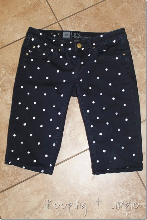 DIY polka dot shorts (7)