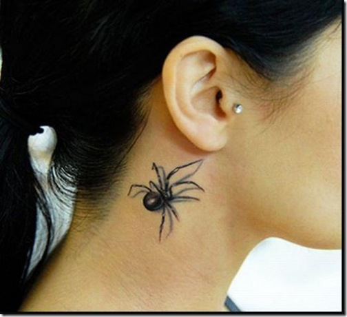 face tatto aranha
