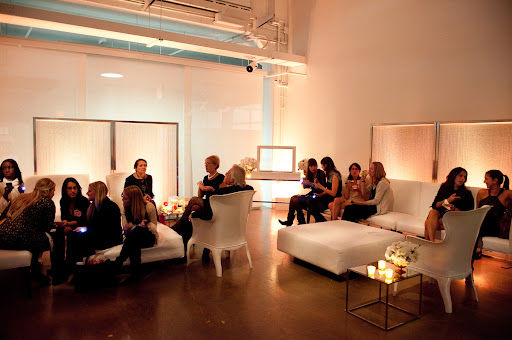 One of the lounge areas set up with rentals from Taylor Creative, Inc.