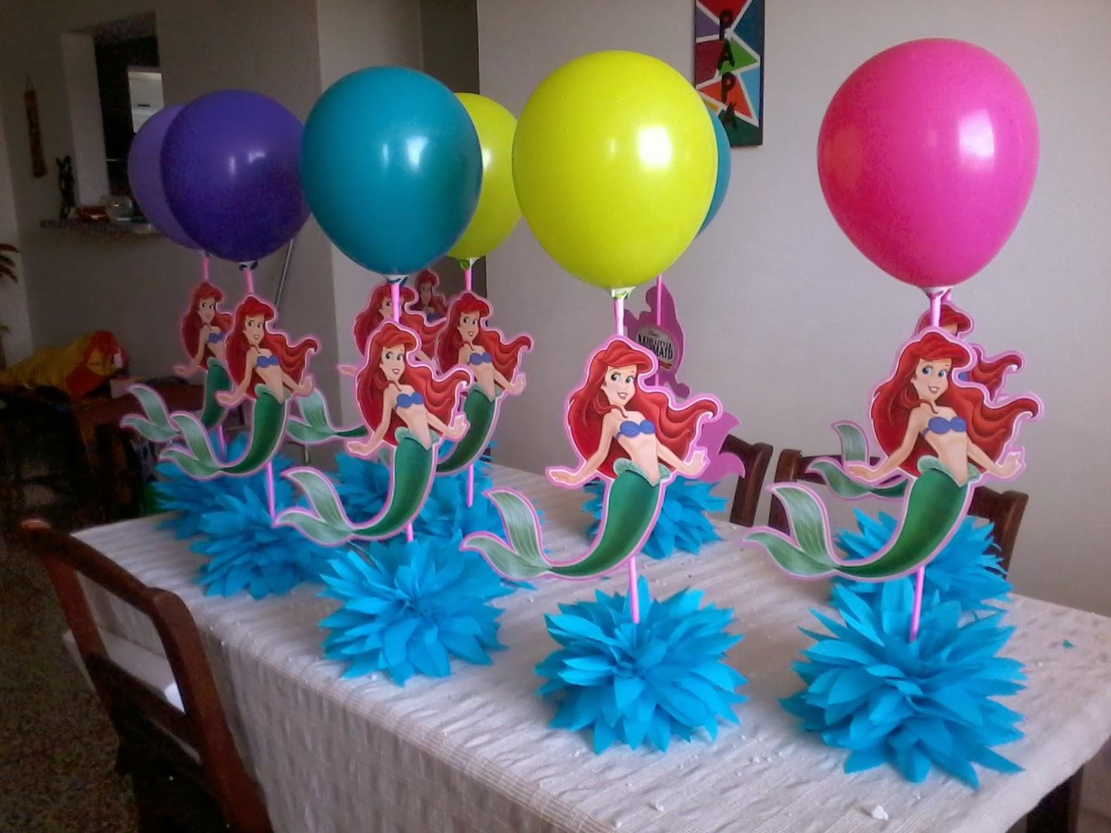 Decoración del cumpleaños de la sirenita - Imagui