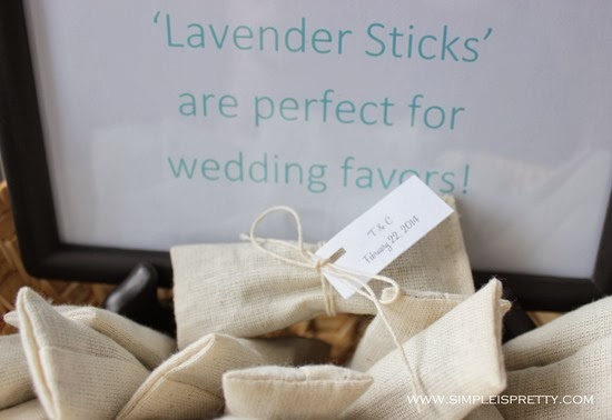 Wedding Favor Lavender Sticks