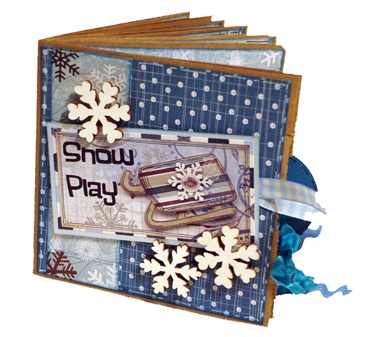 Snow Play Scrapbook 1