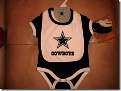 4.  Cowboys onsie