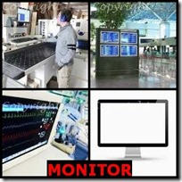 MONITOR- 4 Pics 1 Word Answers 3 Letters