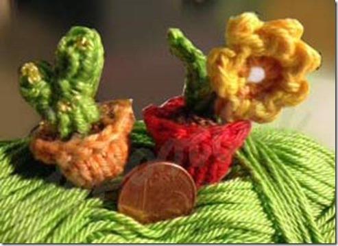 Kaktus,-Blume,-minigestrickt,