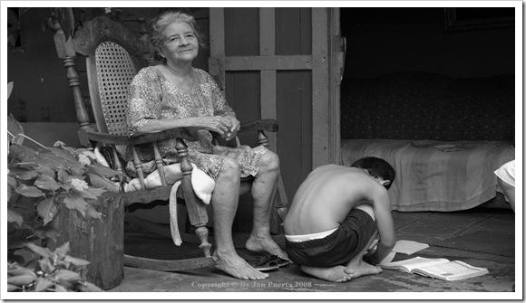 Abuela y su nieto
